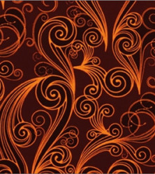 узор оранжевый